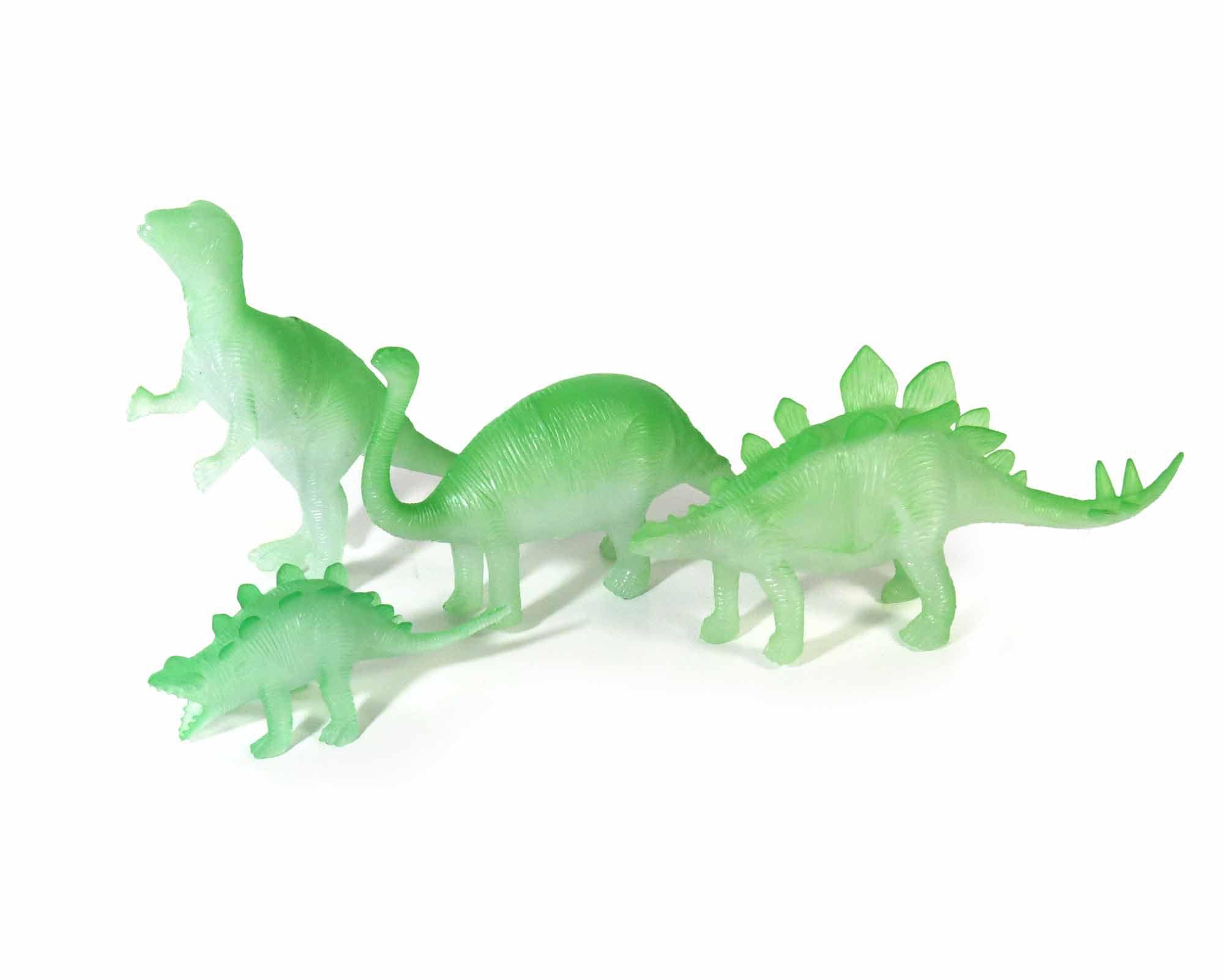 Kit Miniatura Brinquedo Dinossauros Dino Brilham No Escuro