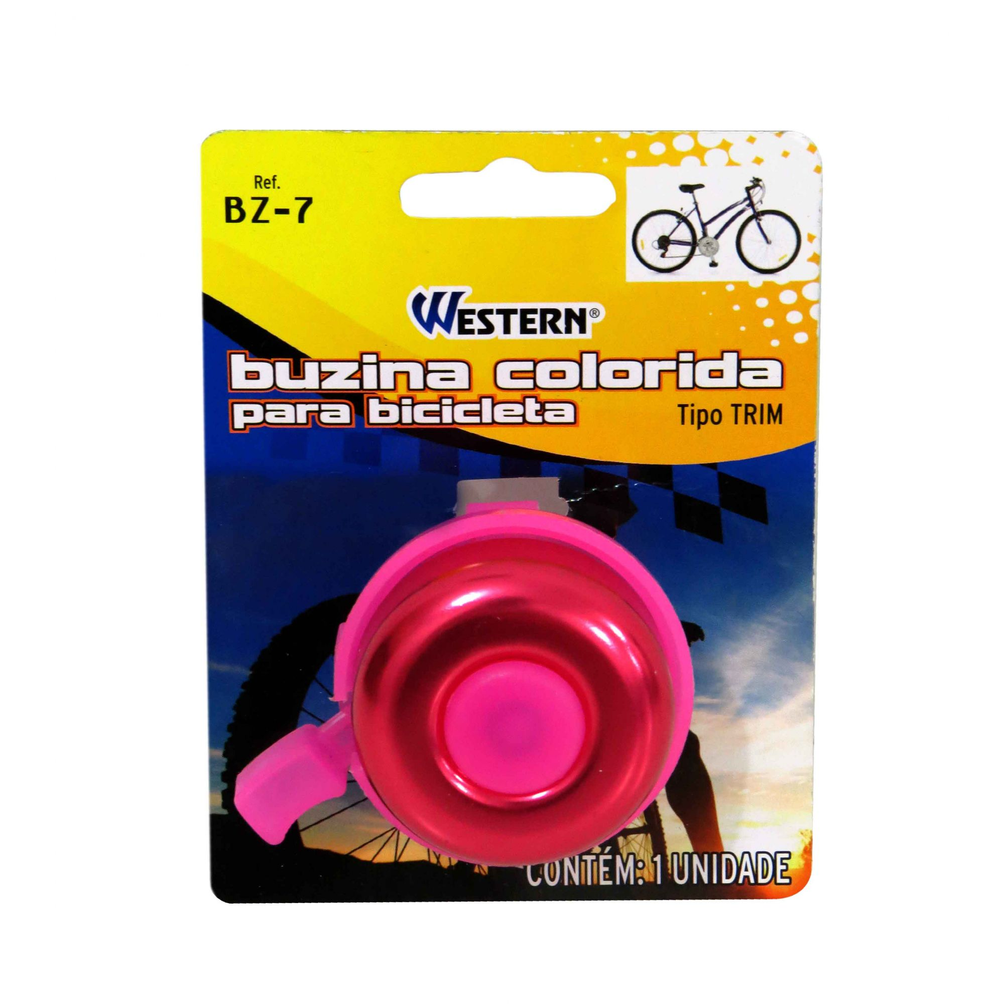 Buzina Colorida Para Bicicleta Bike Tipo Trim Western