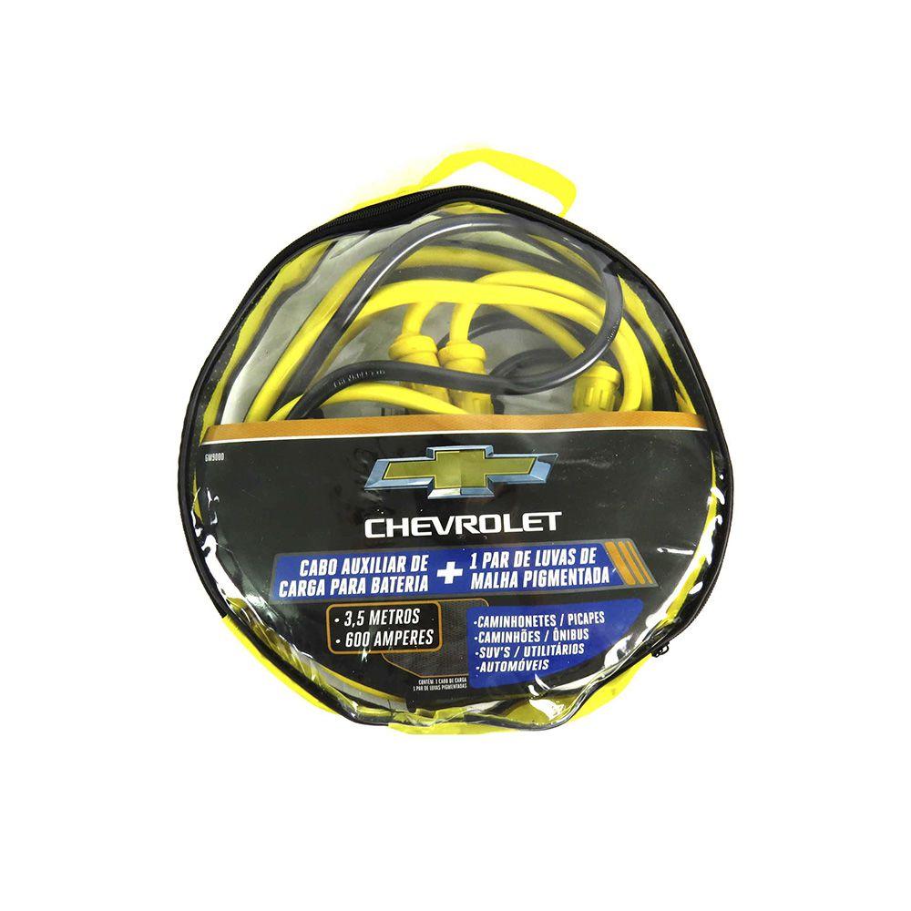 Cabo Para Bateria 600AMP 3,5M + 1Par De Luvas Pigmentadas Chevrolet