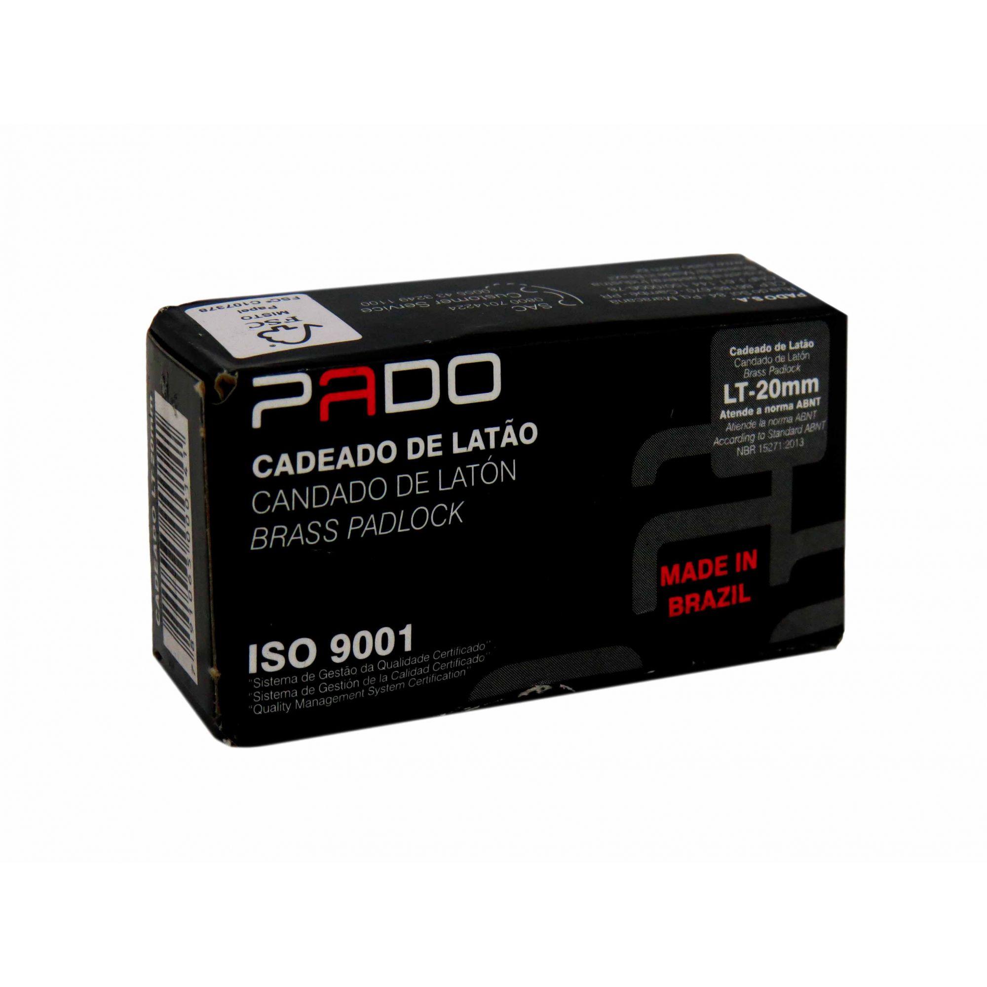 Cadeado de Latão Pado LT-20mm Cód.0014