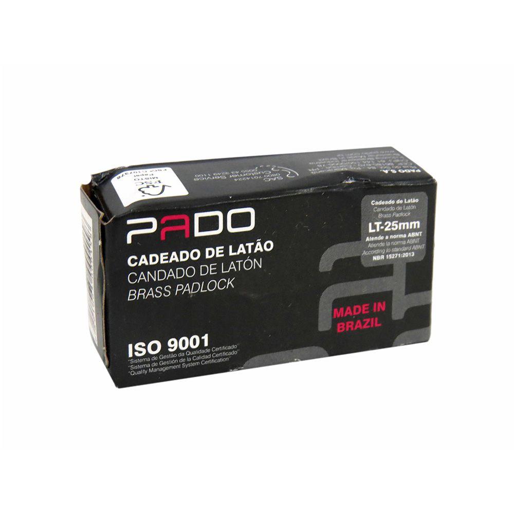 Cadeado de Latão Pado LT-25mm Cód.0015