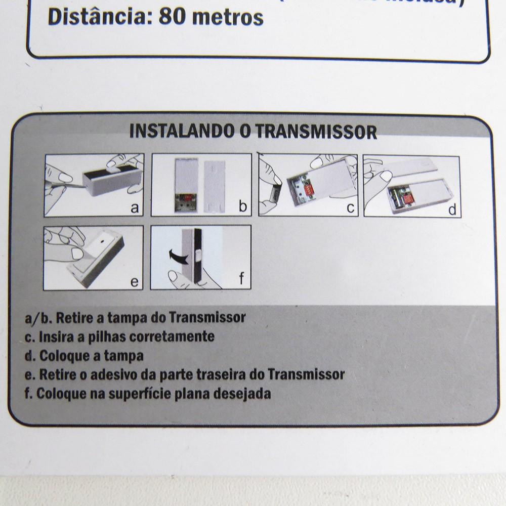 Campainha Sem Fio 36 Toques Bivolt Led 80 Metros Bestfer