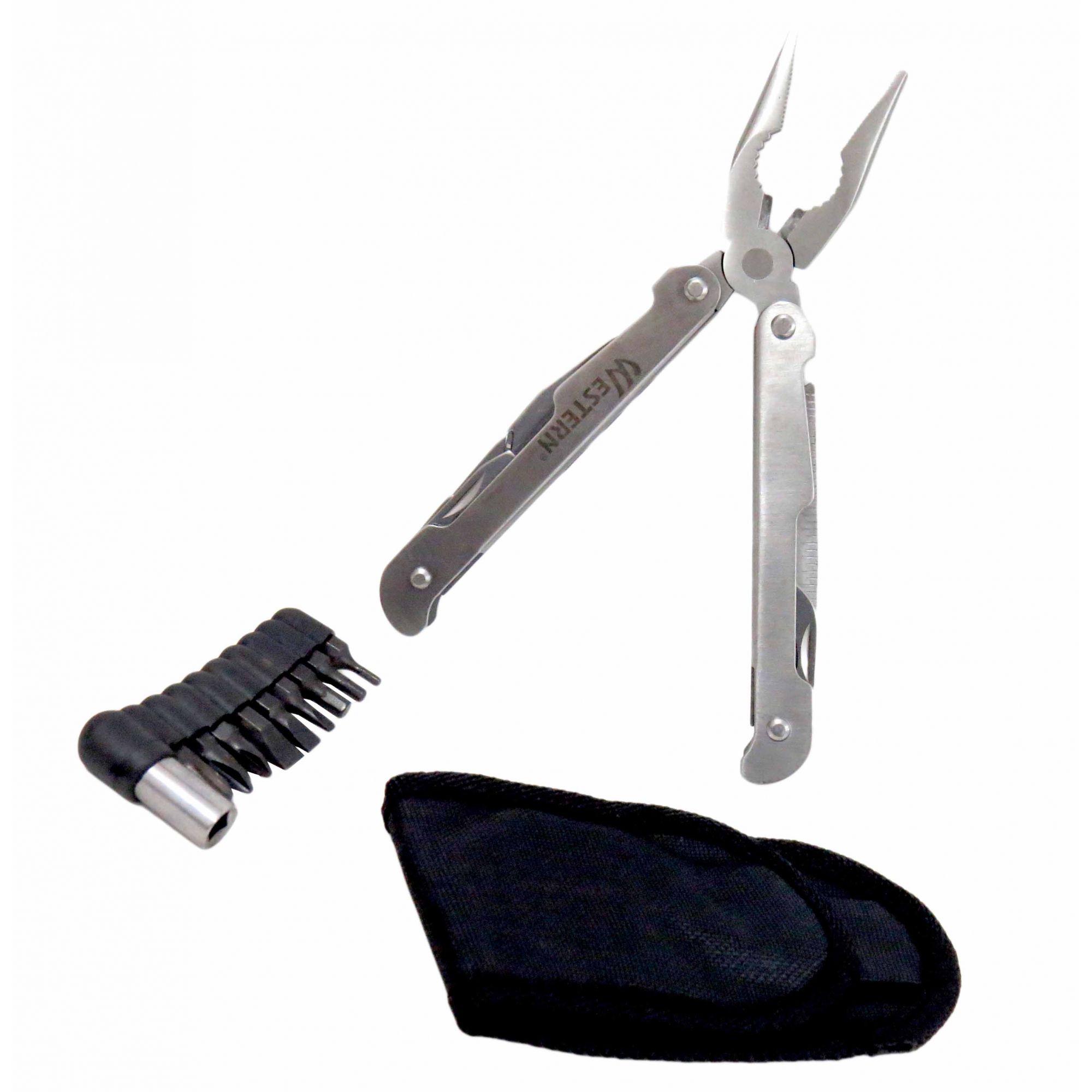 Alicate Canivete Inox Suíço 21 Funções Com Bainha Multiuso
