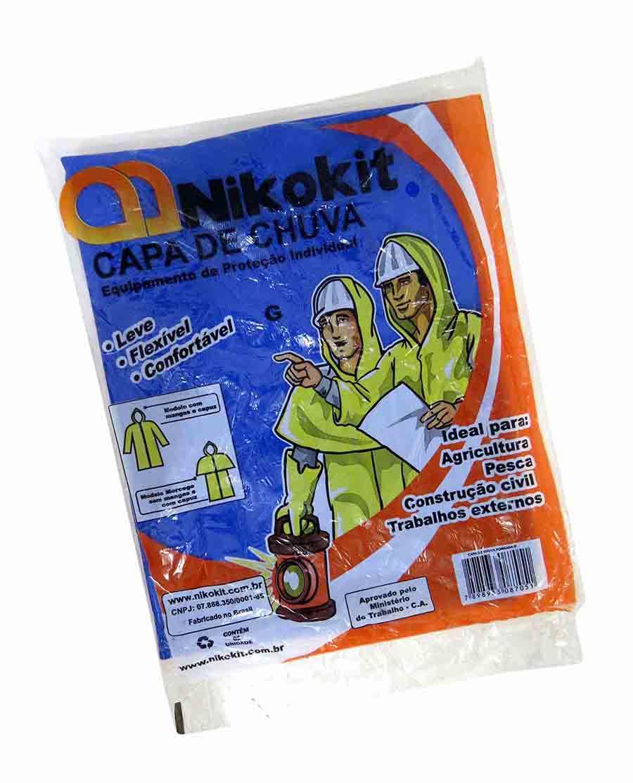 Capa de Chuva Nikokit G Azul Com Forro (E)