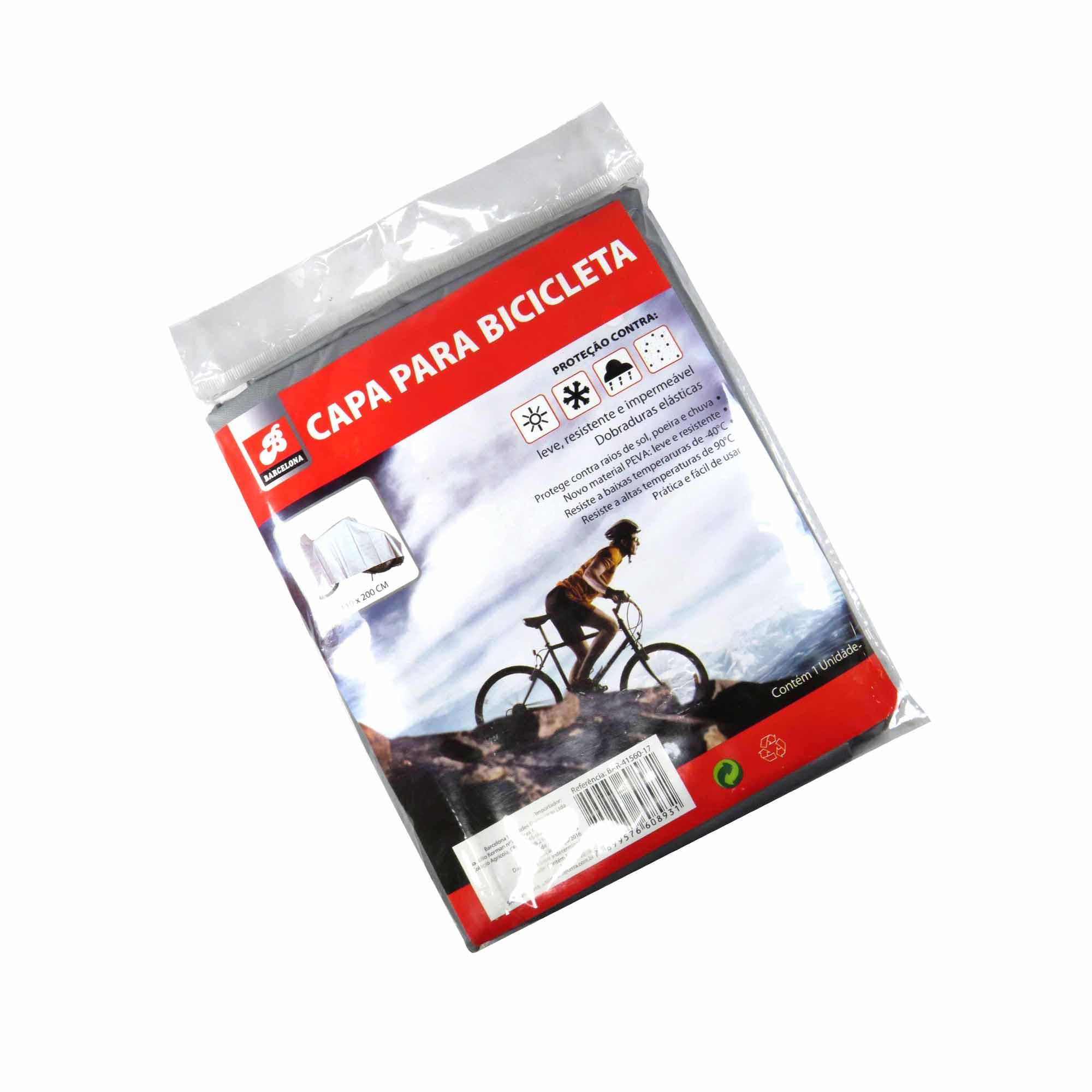 Capa Para Bicicleta 110 x 200 cm Impermeável Leve Barcelona