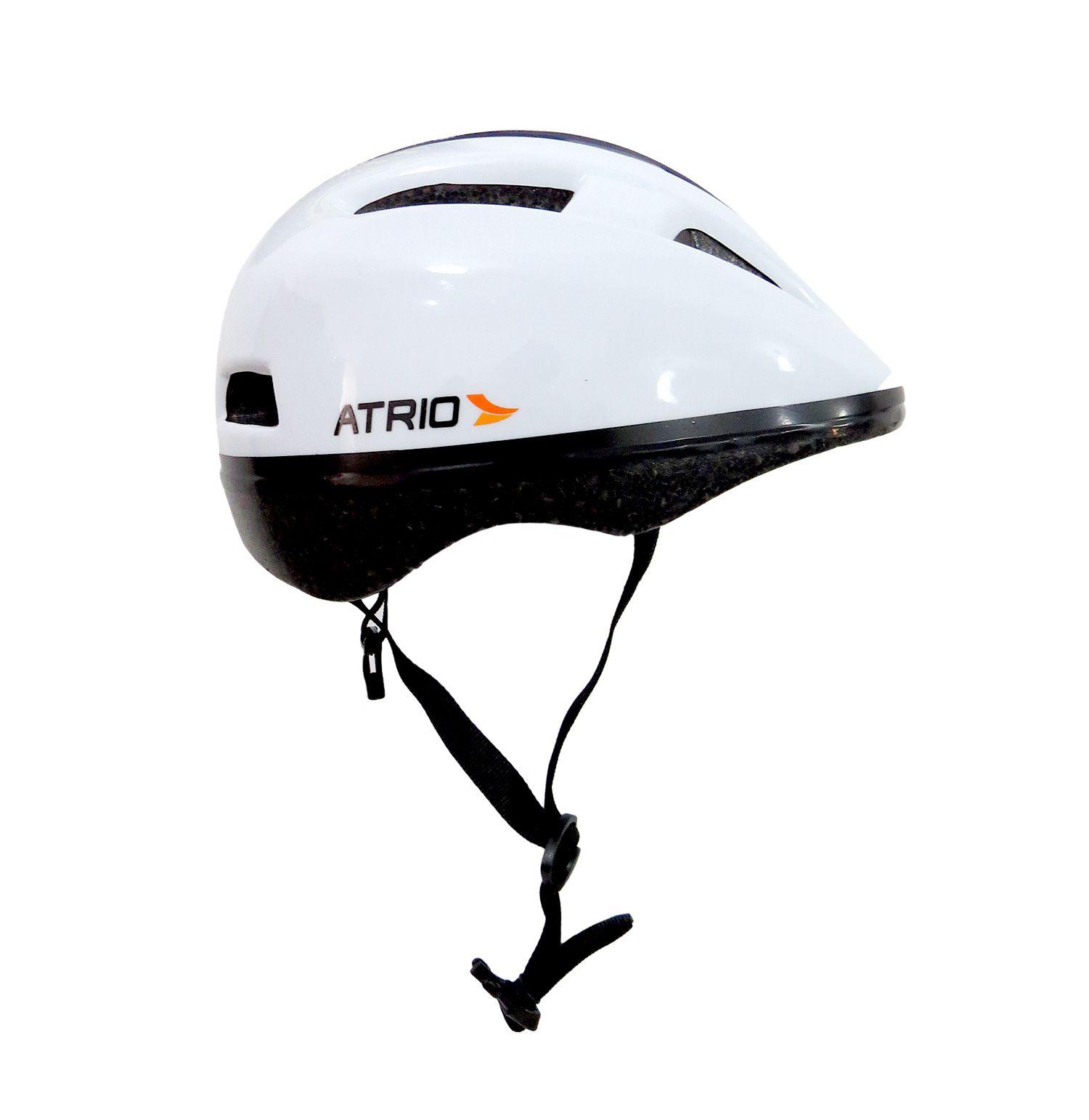 Capacete Urban Branco Bike Ciclismo Tam G 58-62cm Atrio