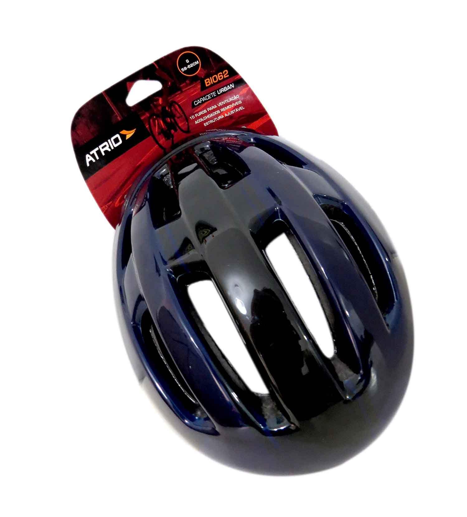 Capacete Preto Urban Ciclismo Bike Bicicleta Tam. G 58-62cm