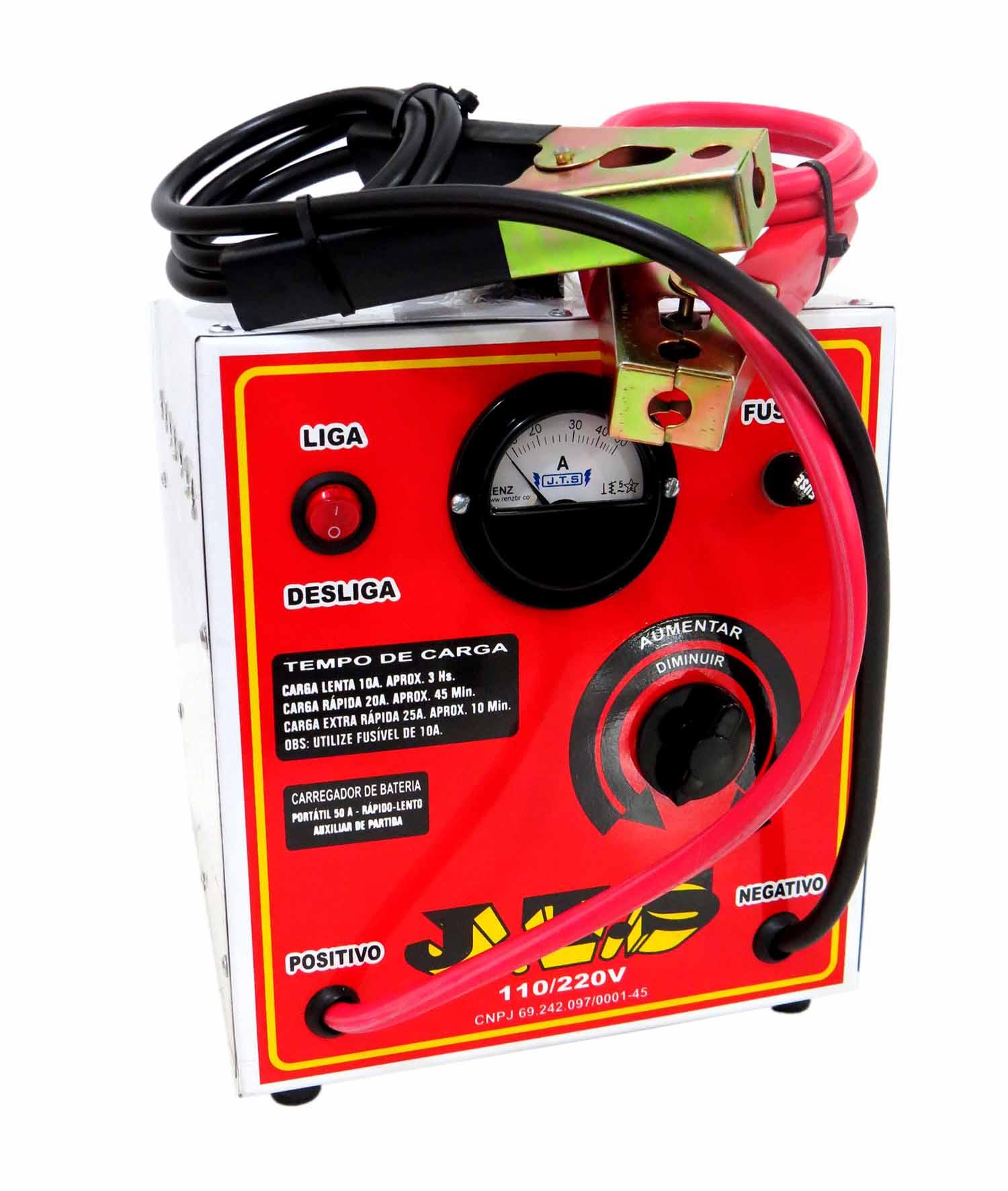 Carregador De Bateria Portátil 110/220v Jts