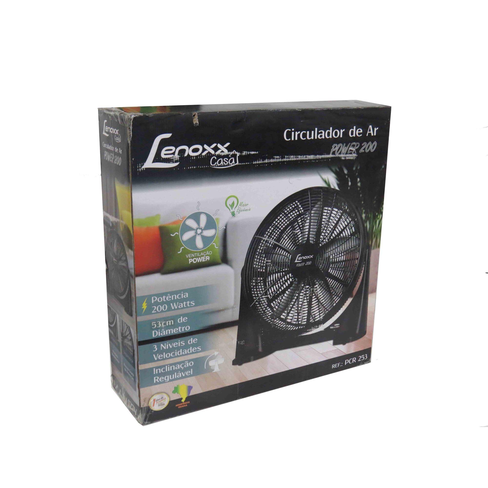 Circulador De Ar Power 53cm 3 Velocidades 200w 127v Lenoxx BG3