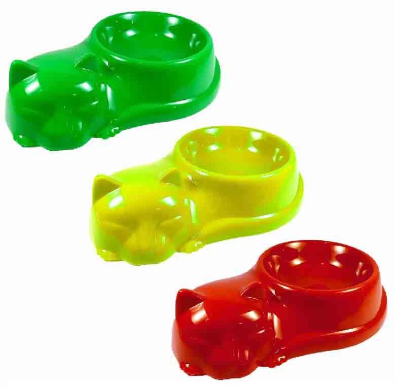 Comedouro Bebedouro Plástico Colorido Para Gatos 230ml