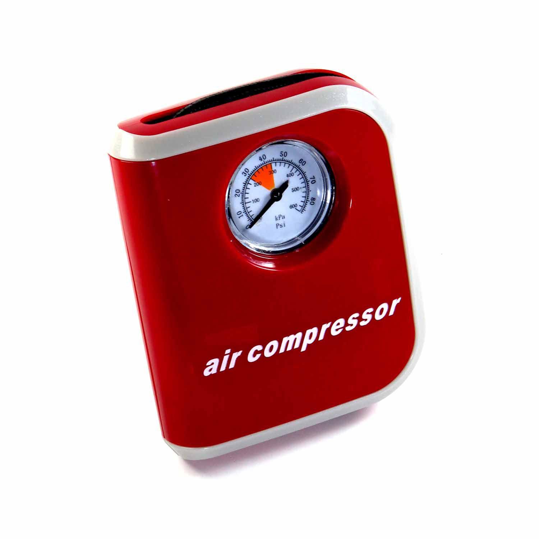 Compressor De Ar 12V 24A 50PSI Para Auto Com Manômetro Black Bull