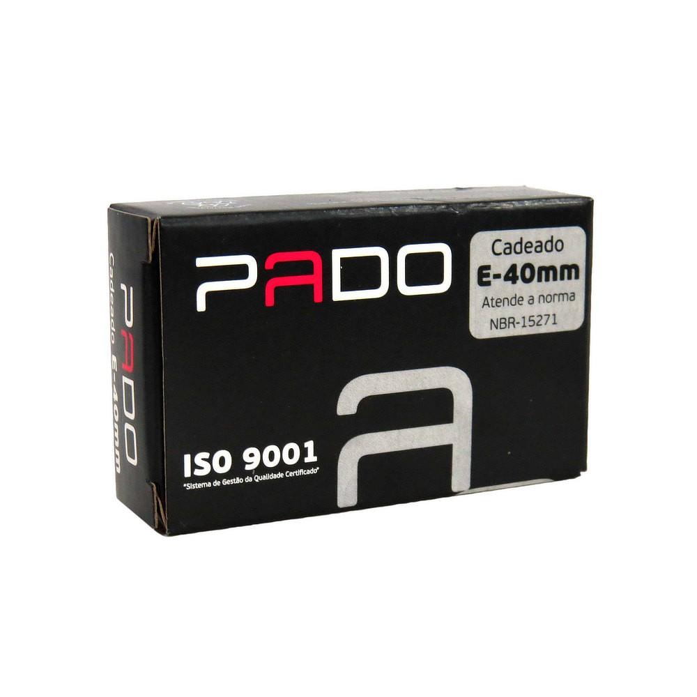 Conjunto com 5 Cadeados de Latão Pado E-40mm
