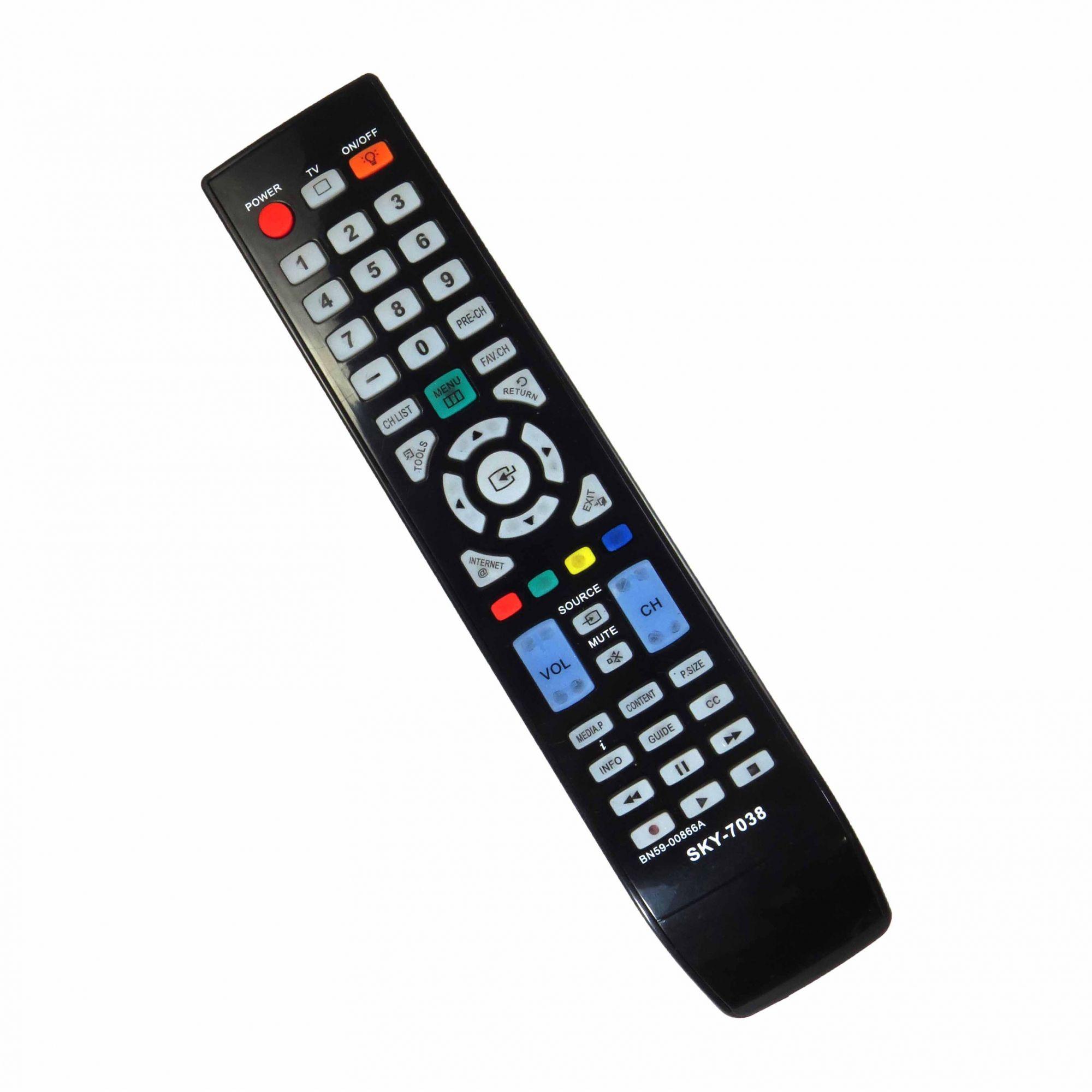 Controle Remoto Para TV LCD LED Samsung BN59-00866A UN40B7000 UN46B7000 UN55B7000 UN55B8000