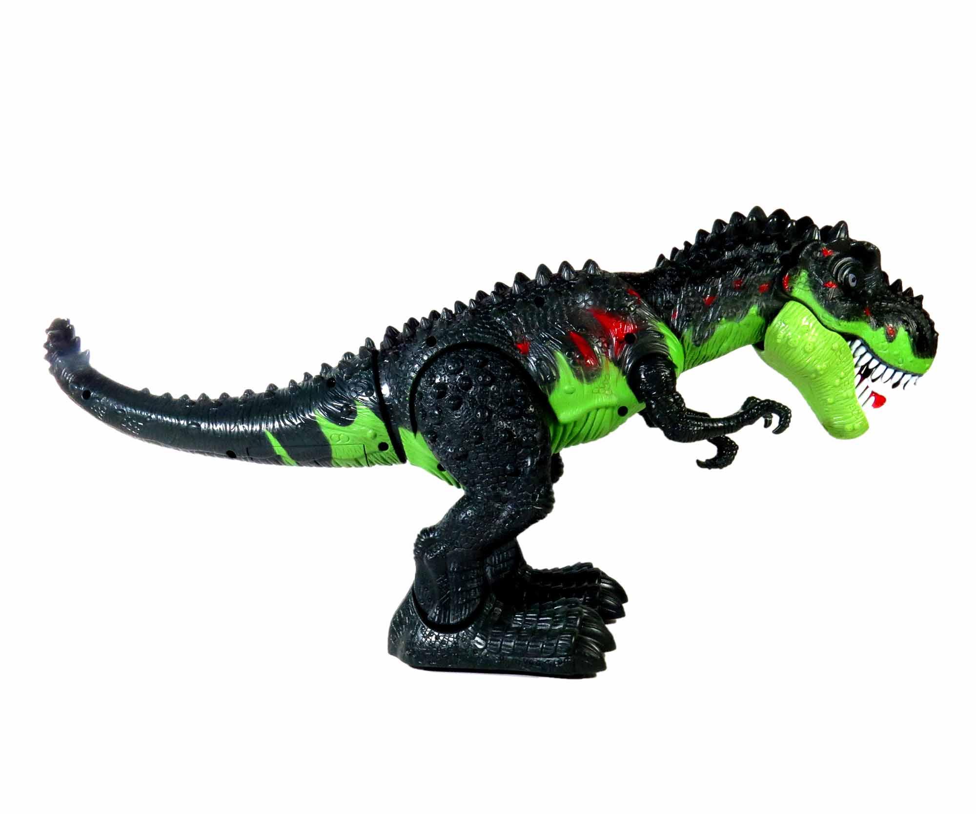 Brinquedo Dinossauro Eletrônico Luz E Som À Pilha Movimentos