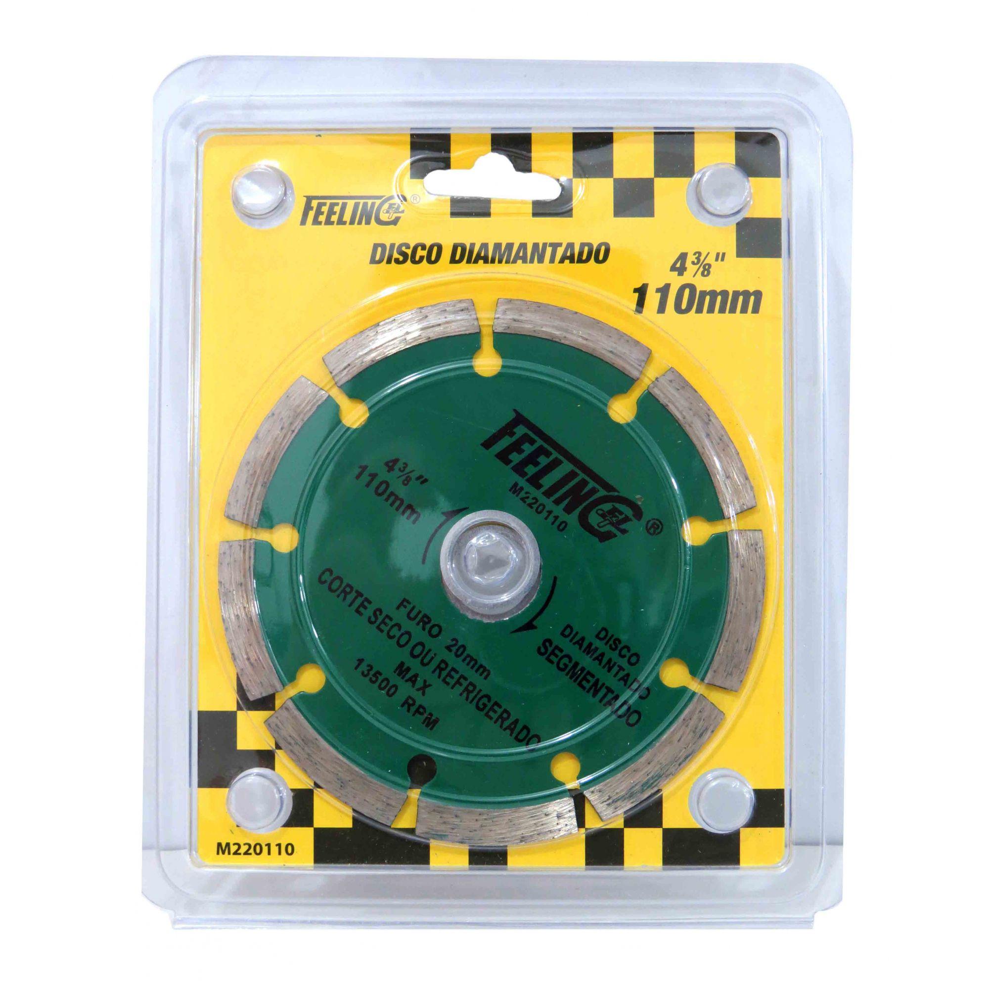 Disco De Corte A Seco Molhado Diamantado Segmentado 110mm