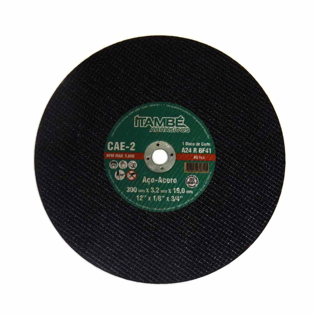 Disco de Corte Ferro 300x3,2x19mm Metal/Aço Itambé Cód.846115
