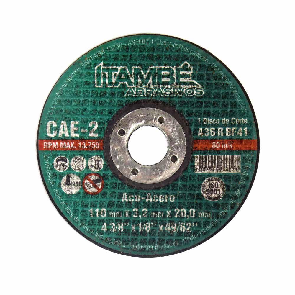 Disco de Corte Ferro Metal/Aço Esmerilhadeira 110x3,2x20mm Itambé Cód.846023