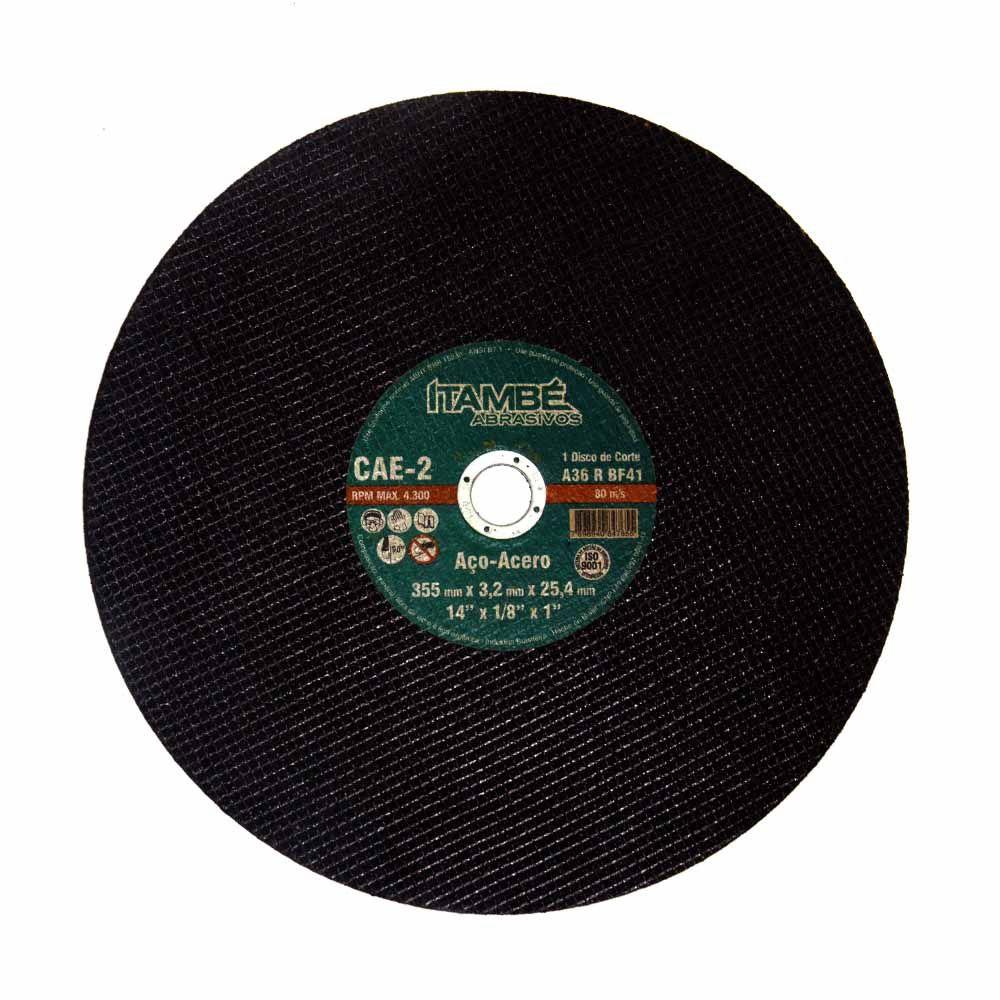Disco de Corte Metal/Aço 355x3,2x25,4mm Itambé Cód.847655