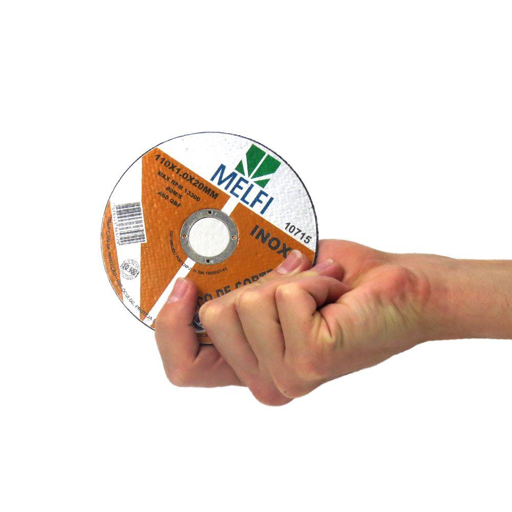 Disco de Corte Para Aço Inox 110x1,0x20mm Melfi Cód.0715