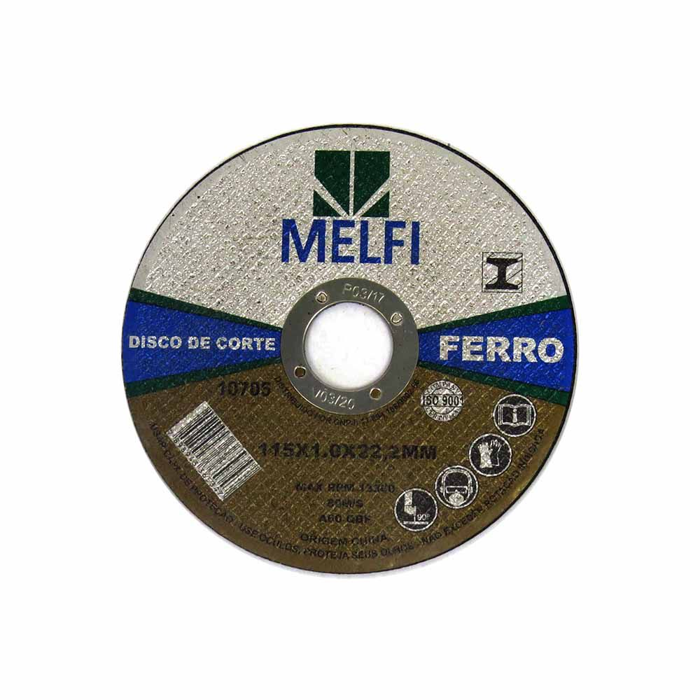 Disco de Corte Para Ferro 115x1,0x22,2mm Melfi Cód.0705