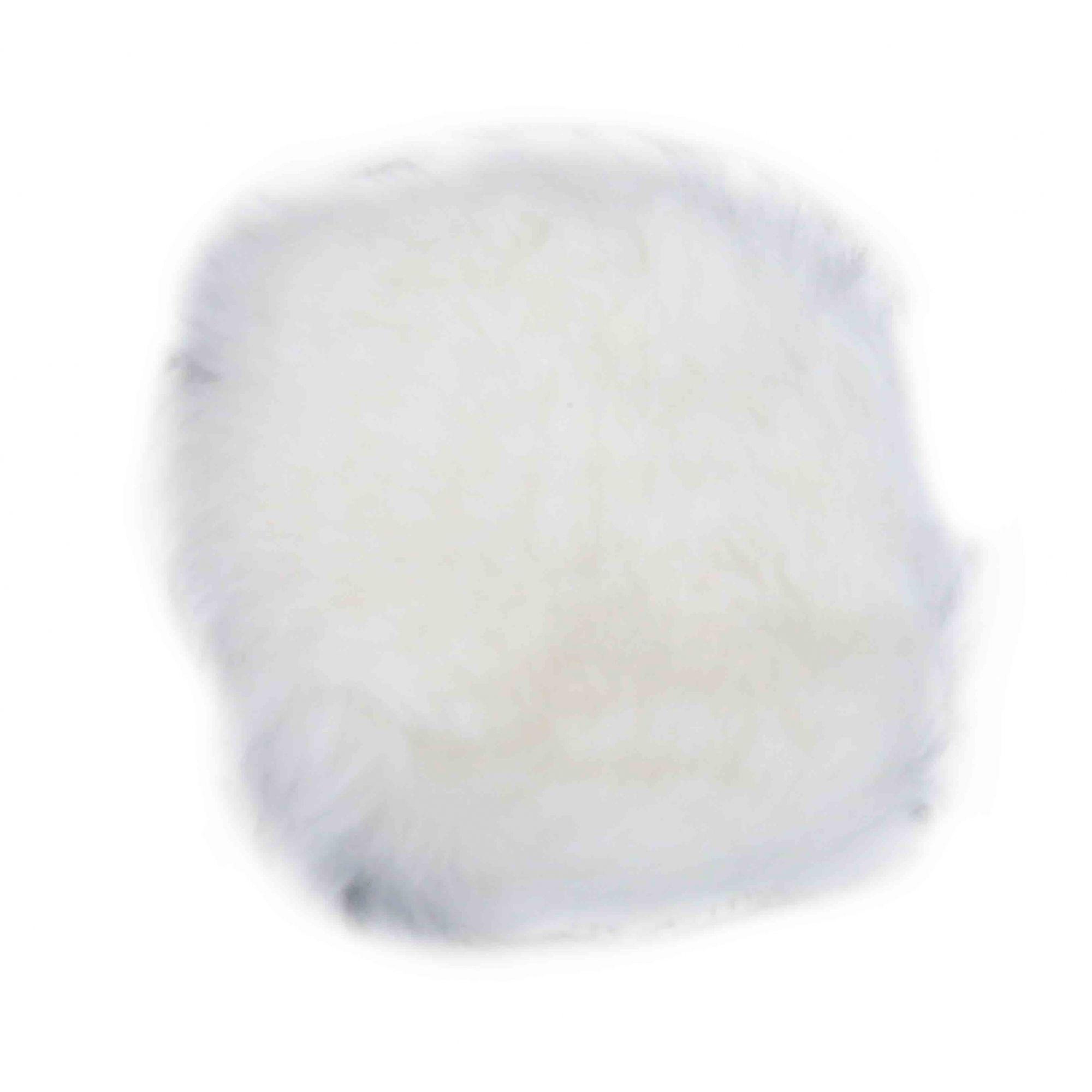 Disco Boina Boné Para Polir De Lã 115mm Branco OUTLINE