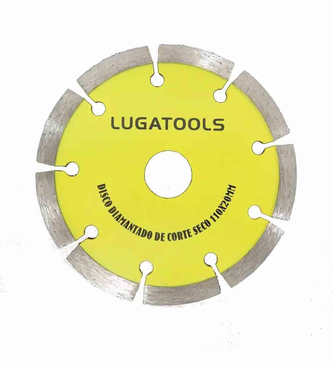 Disco Diamantado Corte A Seco E Molhado 110mm Turbo Concreto