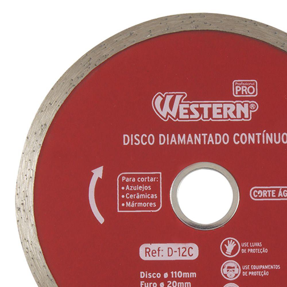 Disco Diamantado Contínuo 110mm 20mm Corte Água 5 Unidades