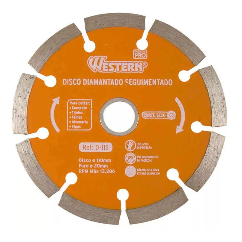Disco Diamantado Segmentado Corte Seco Western