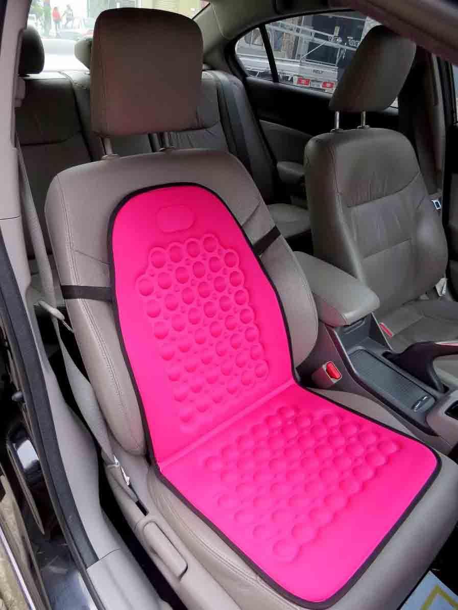 Encosto Para Banco de Auto Tunning Com Massageador de Bolinha Pink OUTLINE