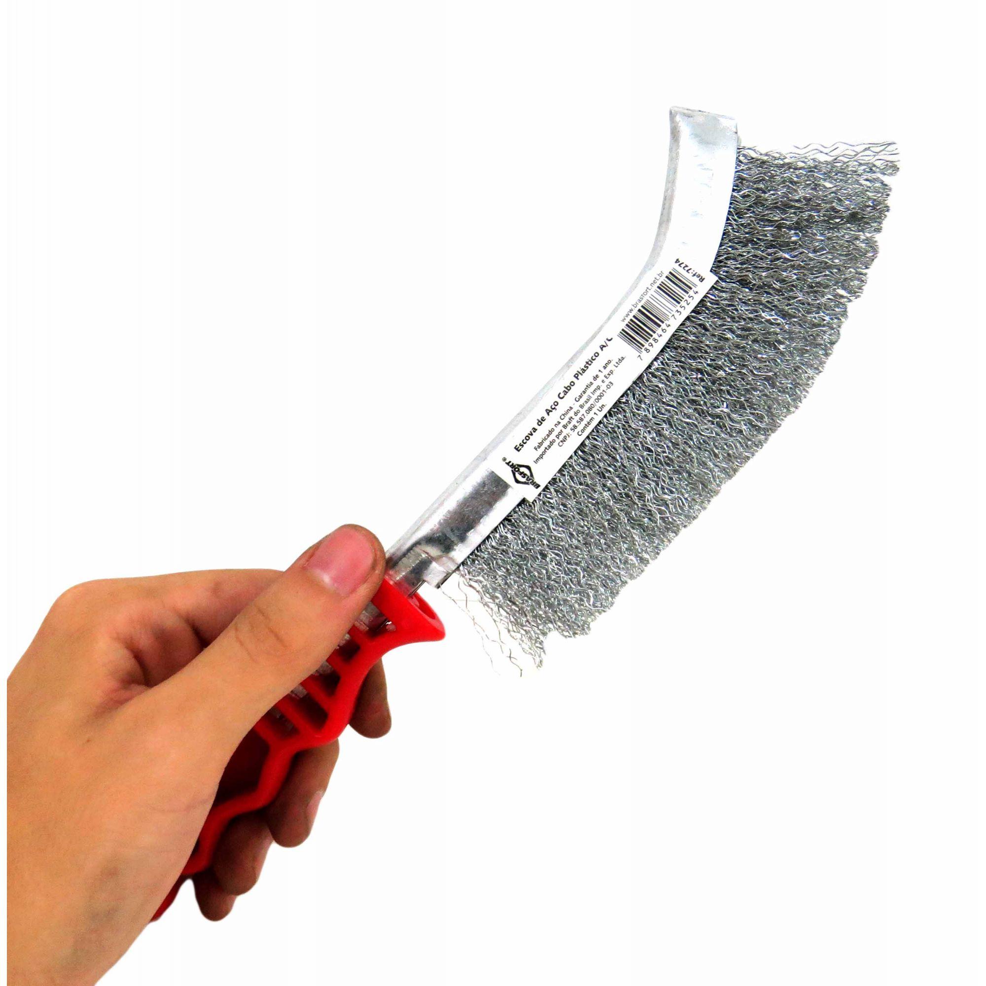 Escova de Aço Brasfort Cabo Plástico (E)