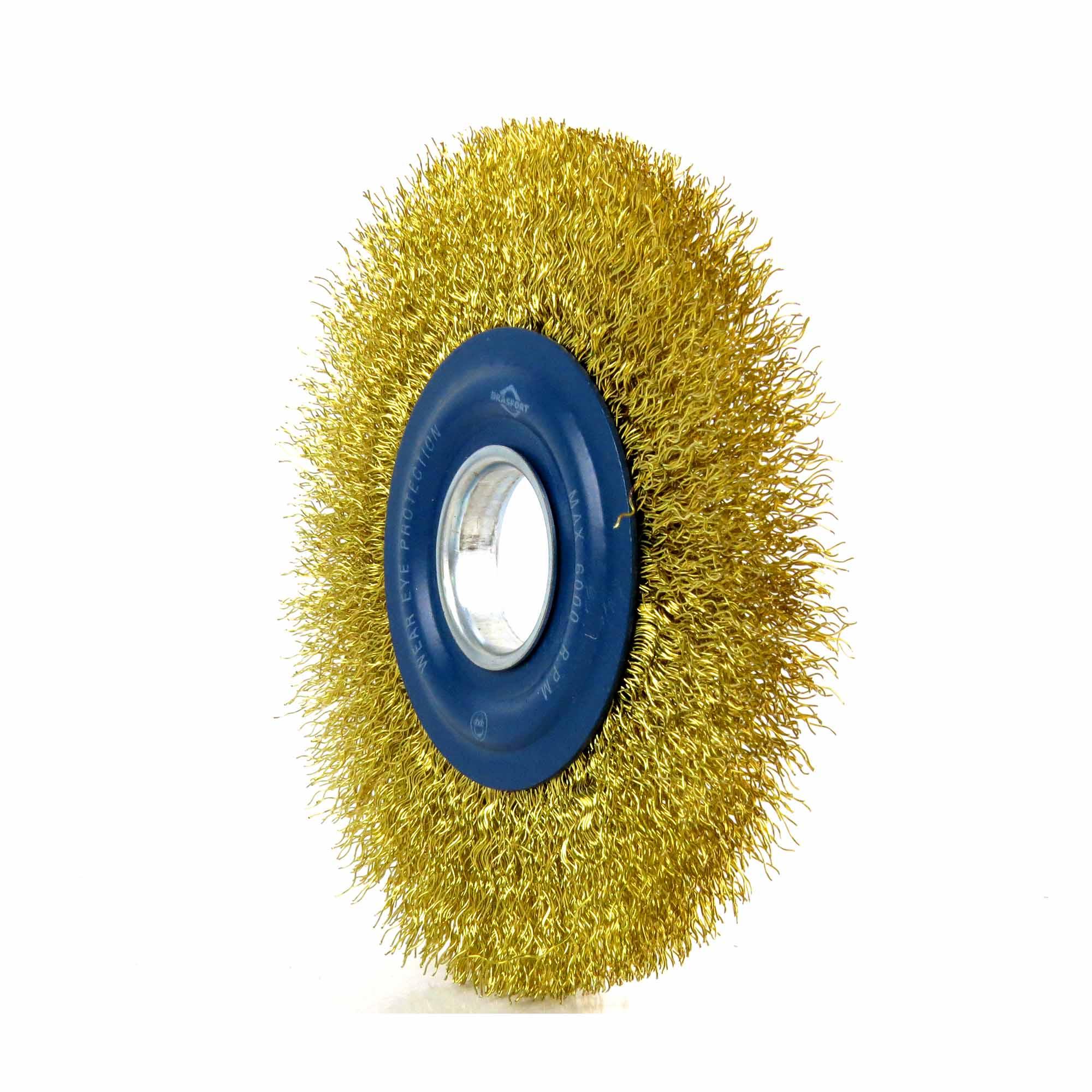 Escova De Aço Circular 6 Pol A.1/2 Brasfort