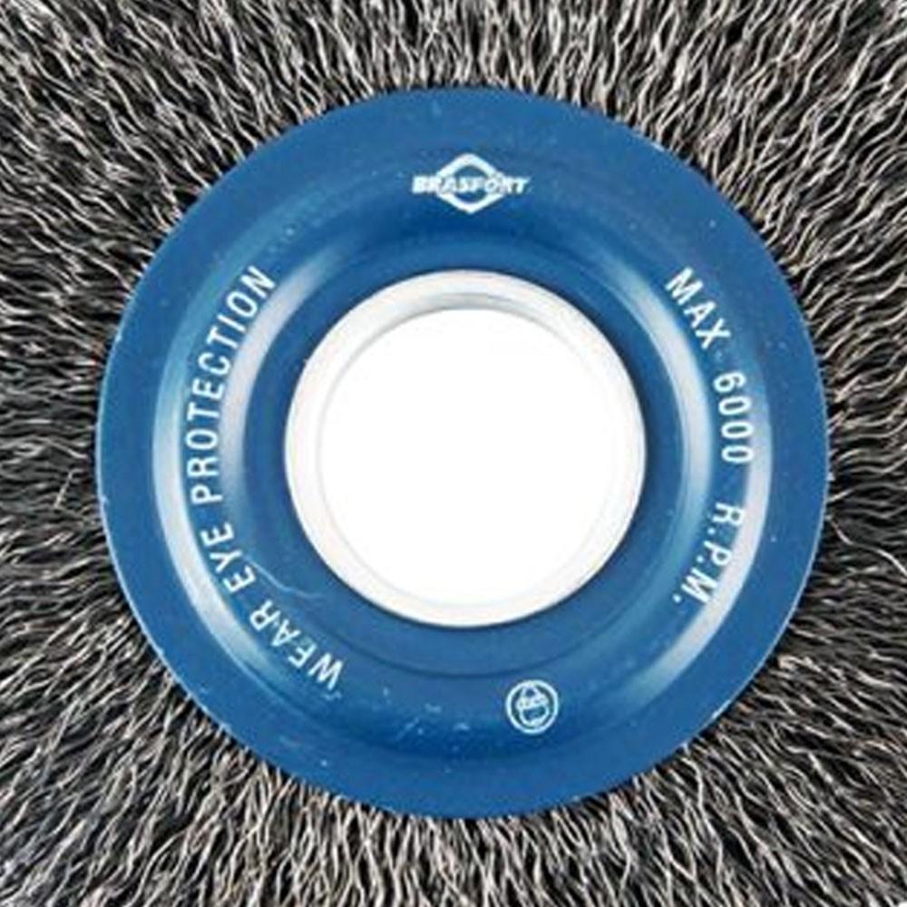 Escova De Aço Circular Ondulada 6 Pol Aço Carbono