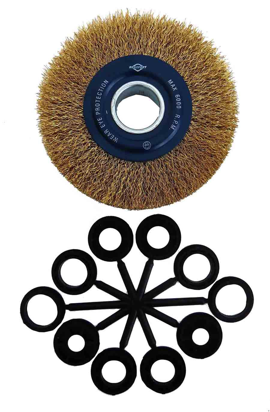 Escova De Aço Circular Ondulada 6 Pol Brasfort