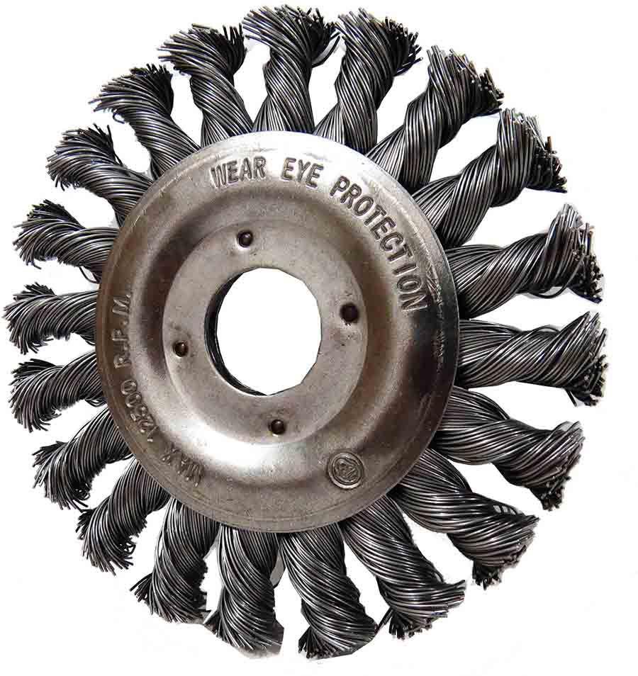 Escova De Aço Circular Trançado Diâmetro 115 Furo 22,2 Mm(E)