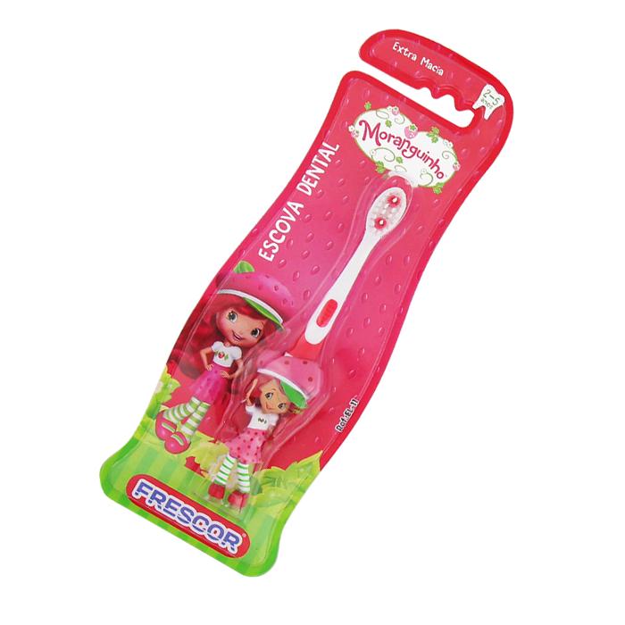 Escova De Dente Infantil Extra Macia Dental Moranguinho
