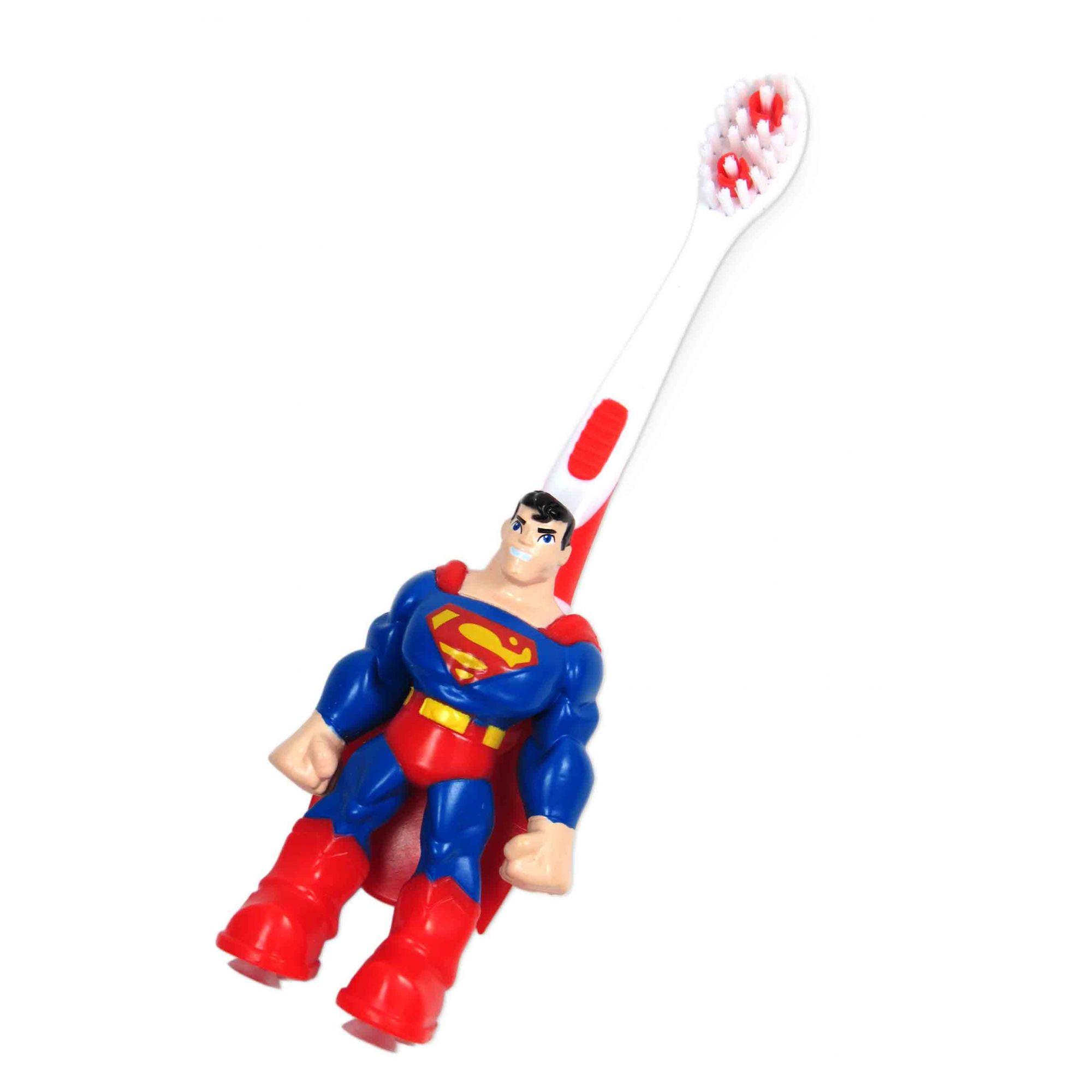 Escova Dental Infantil 3D Superman Extra Macia 2 À 5 Anos