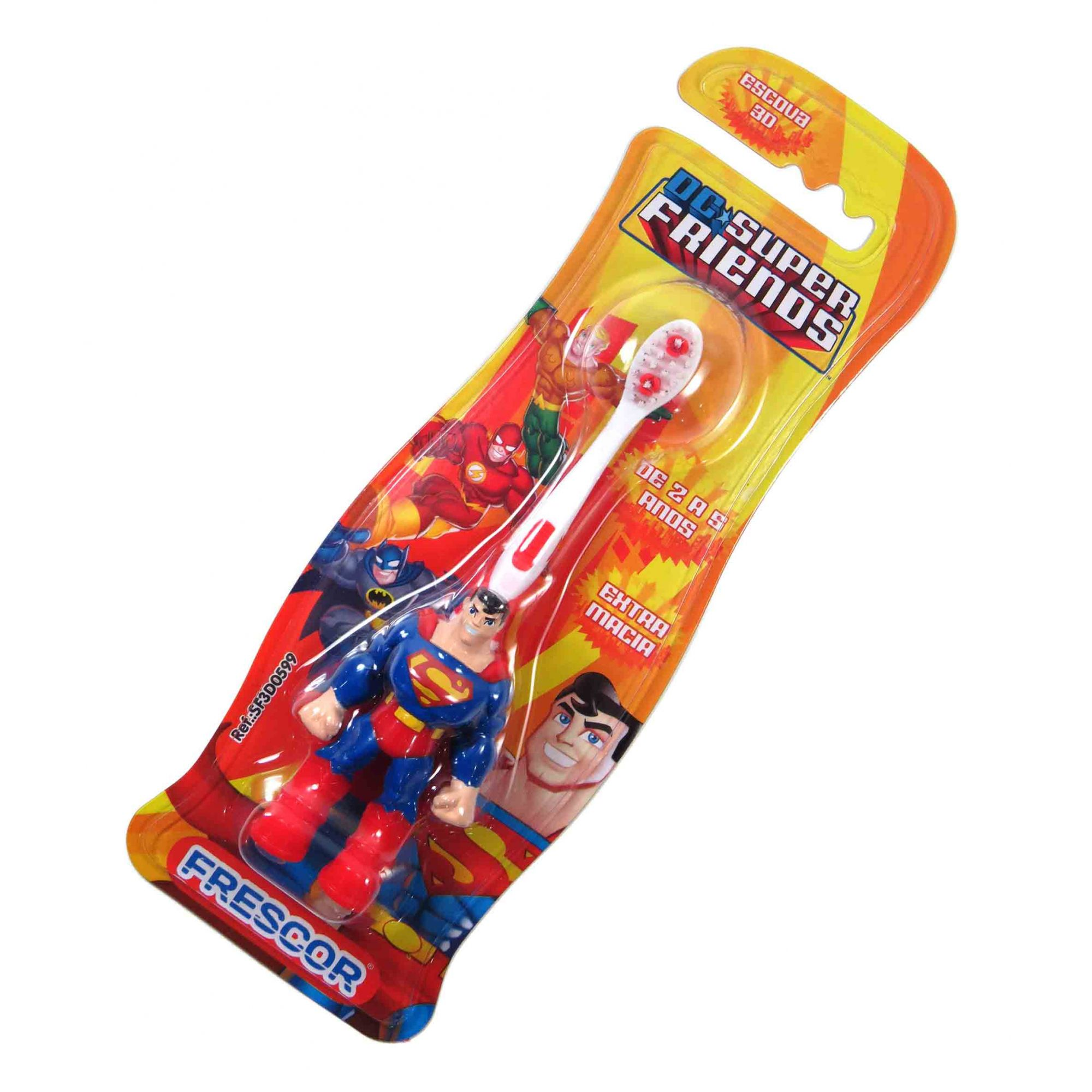 Escova Dental Infantil 3D Superman Extra Macia 2 À 5 Anos OUTLINE
