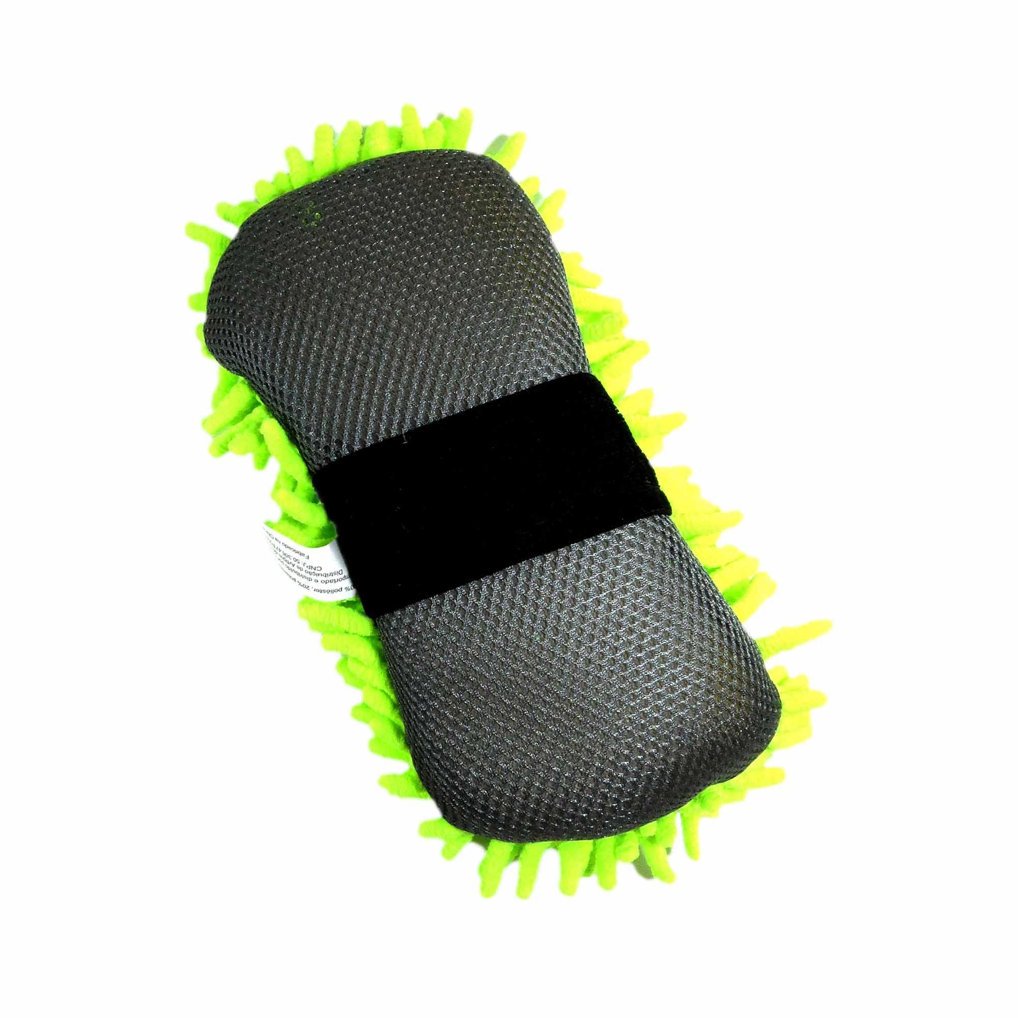 Esponja Microfibra Automotiva De Alta Absorção Com Alça