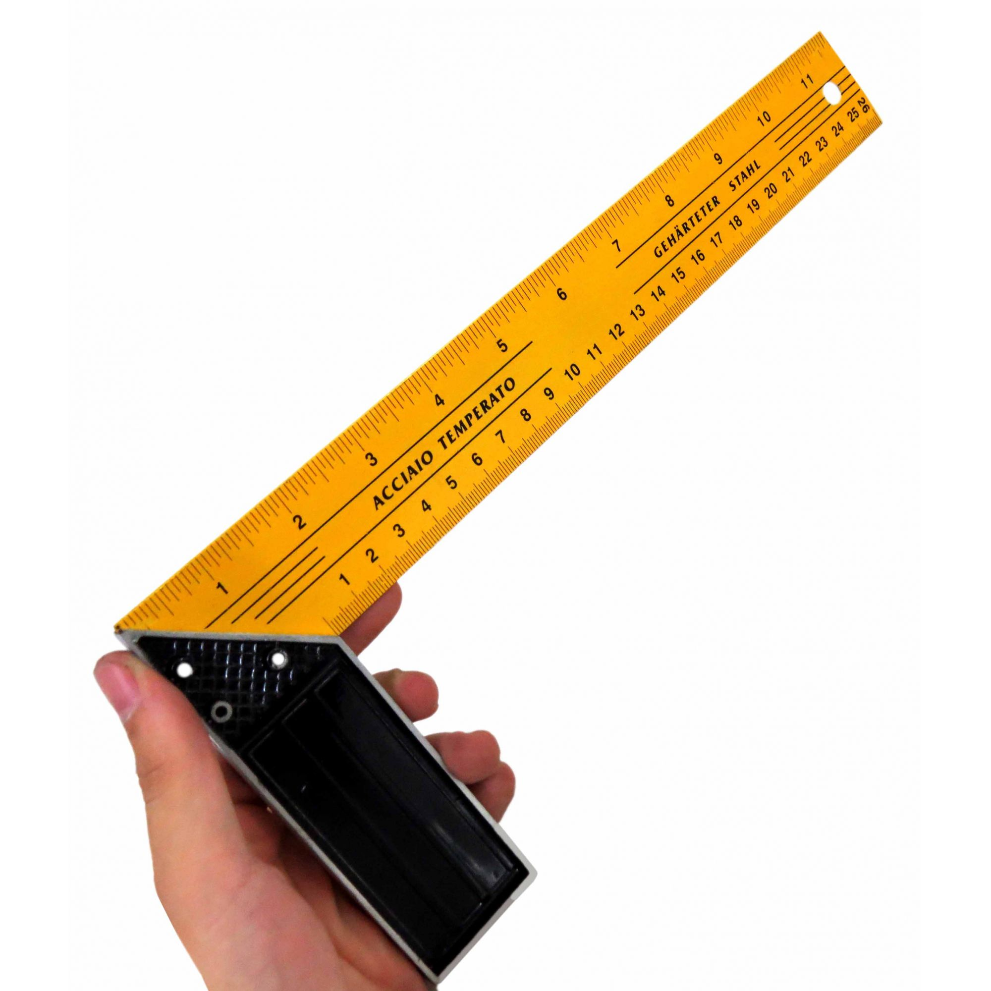 """Esquadro 12"""", 30cm Fertak"""
