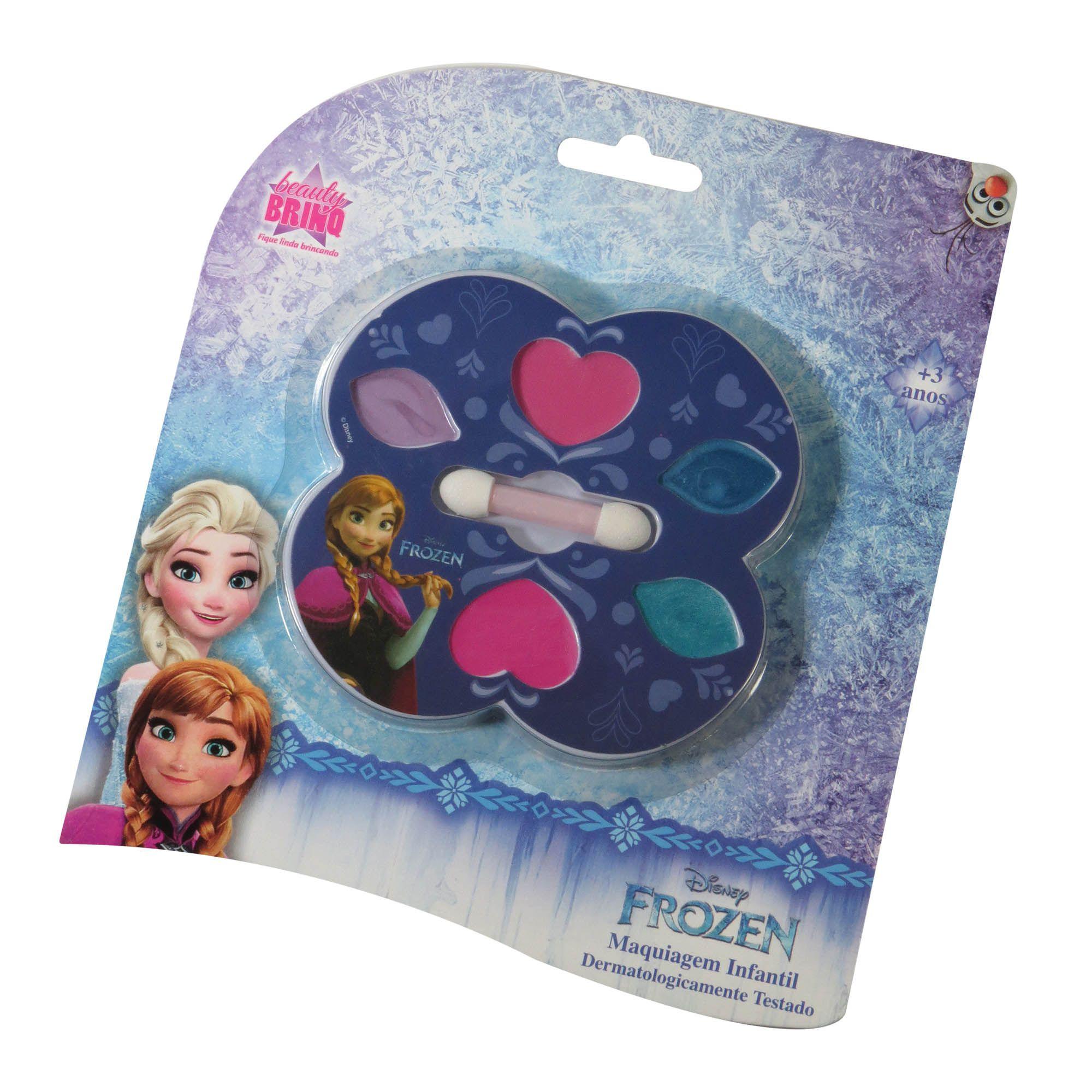 Estojo Frozen Anna Batom Sombra Blush Maquiagem Infantil