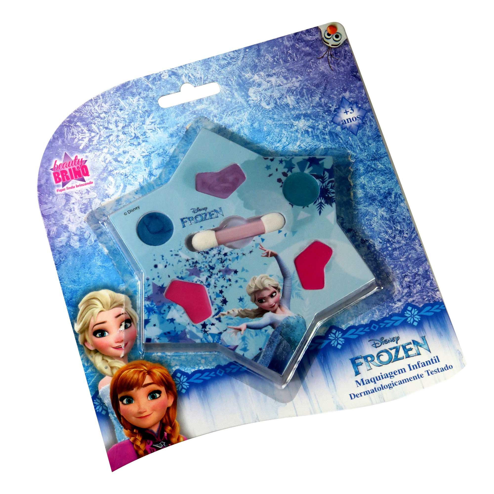 Kit Estojo Frozen Batom Sombra Blush Maquiagem Infantil