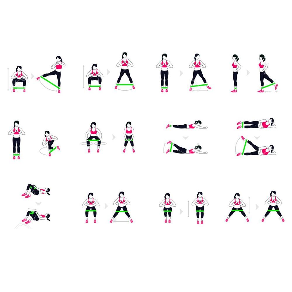 Faixa Para Treino Exercício Resistência Miniband Yoga Pilates
