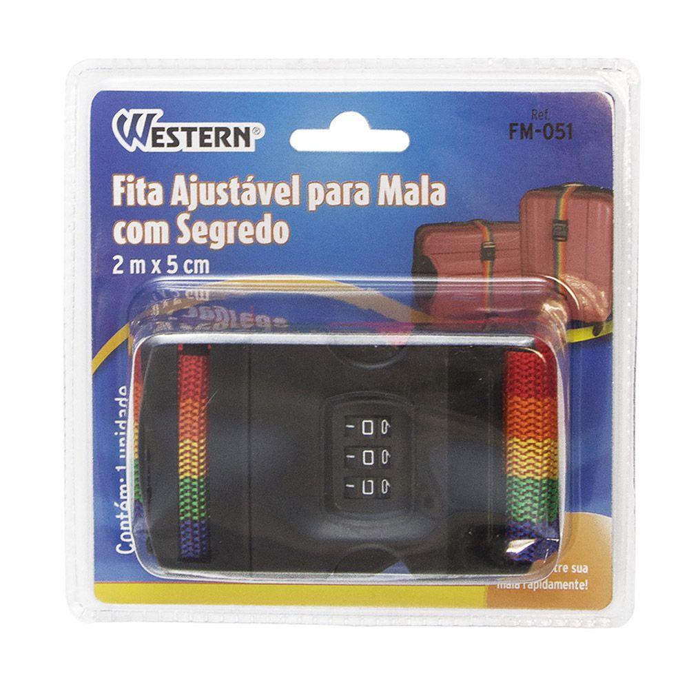 Fita Segurança Ajustável Com Segredo 2 Metros 3 unidades