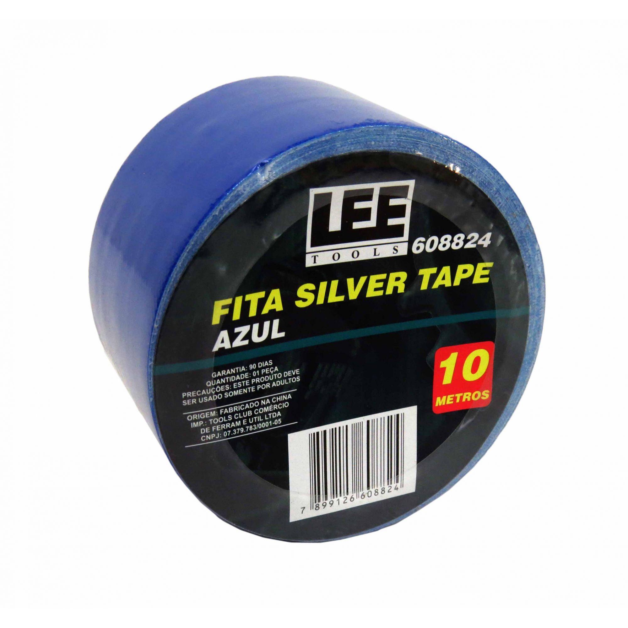 Fita Silver Tape Azul 10 Metros Leetools