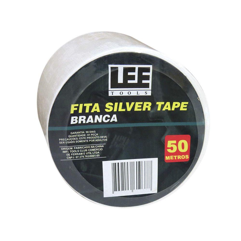 Fita Silver Tape Branca 50 Metros Leetools 2 unidades