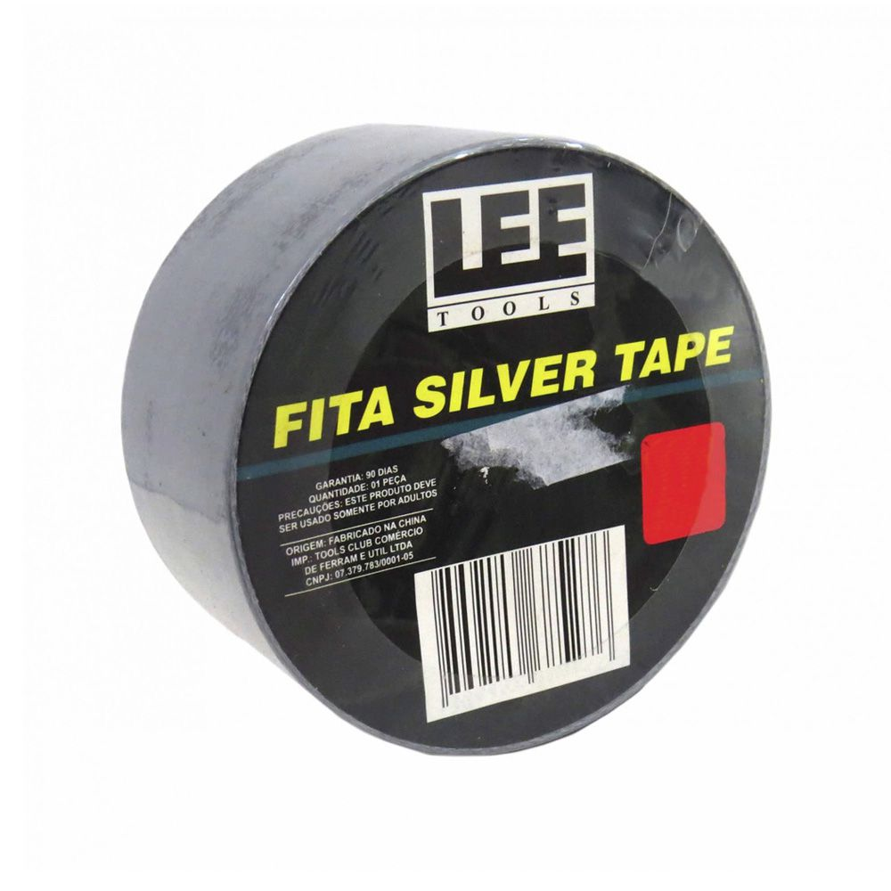 Fita Silver Tape Cinza 50 Metros Leetools 5 unidades