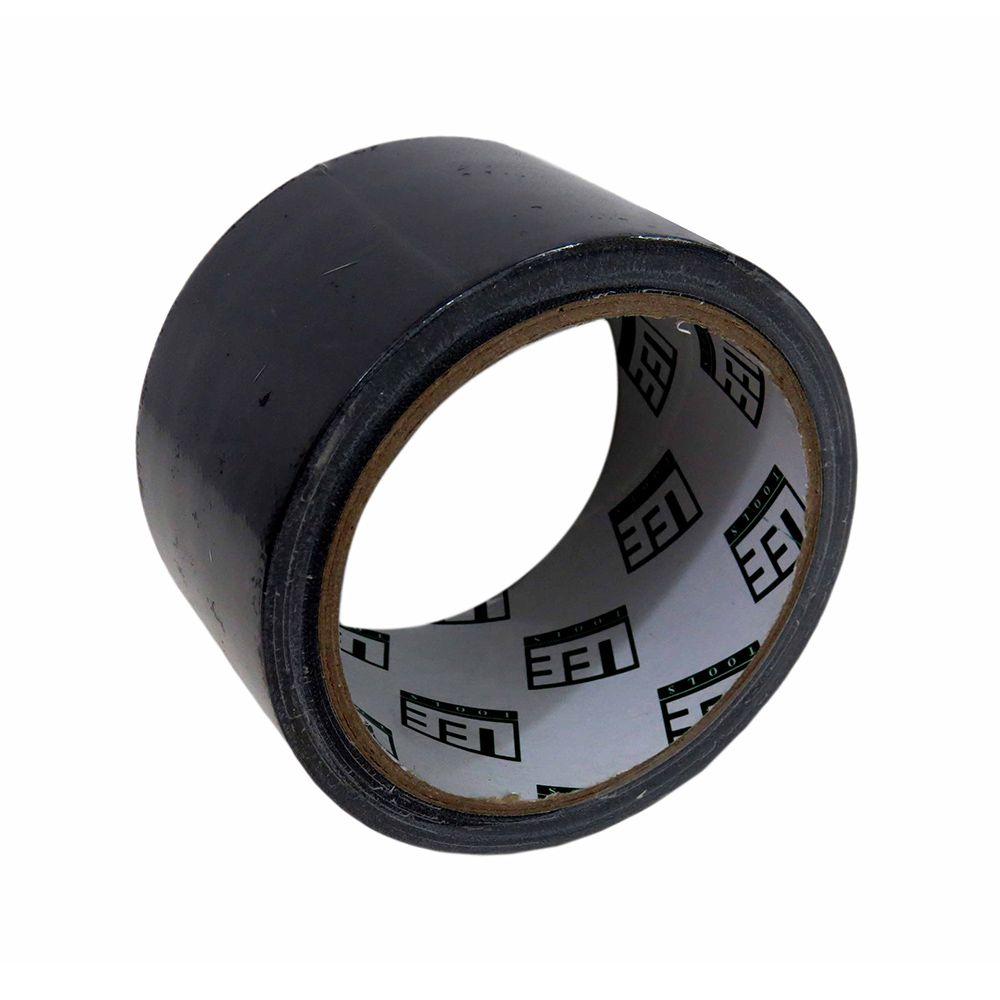 Fita Silver Tape Preta 50 Metros Leetools