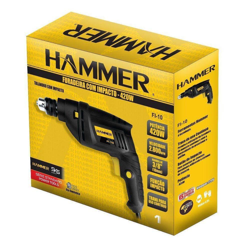 Furadeira de Impacto 420w 127v 2800RPM Hobby Hammer