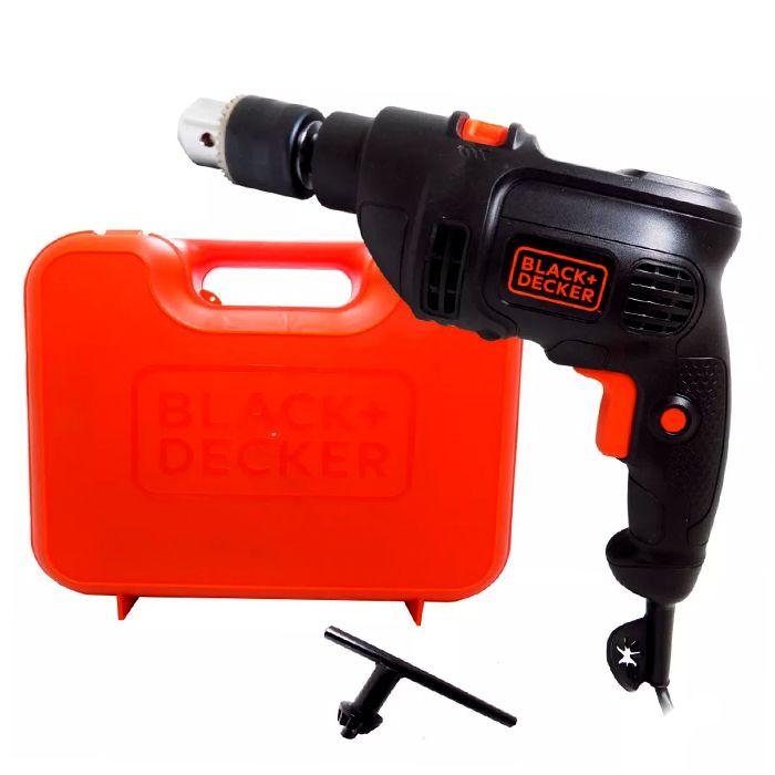 Furadeira Elétrica 1/2 pol 650W 220V com maleta Black Decker