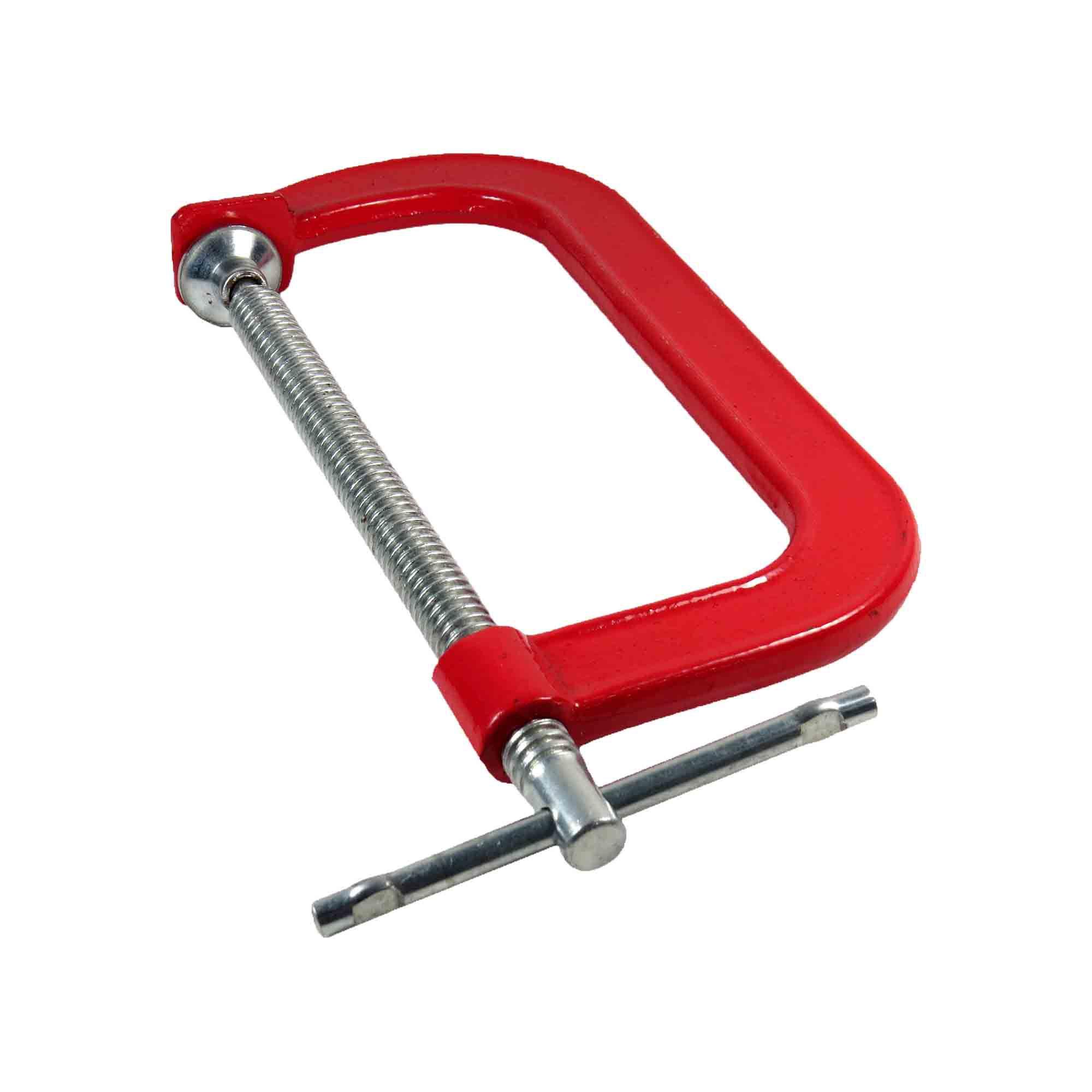 Grampo Para Marceneiro Vermelho Tipo C 6 Pol- 150mm (E)